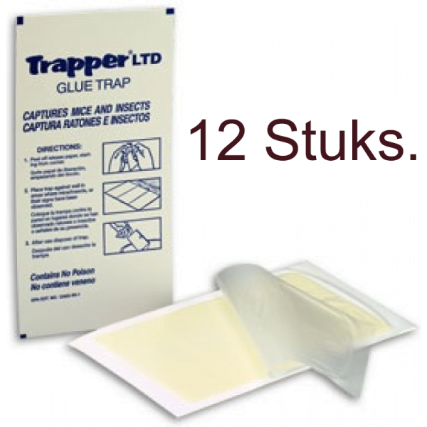 Trapper LTD muizen lijmplank - 12 stuks