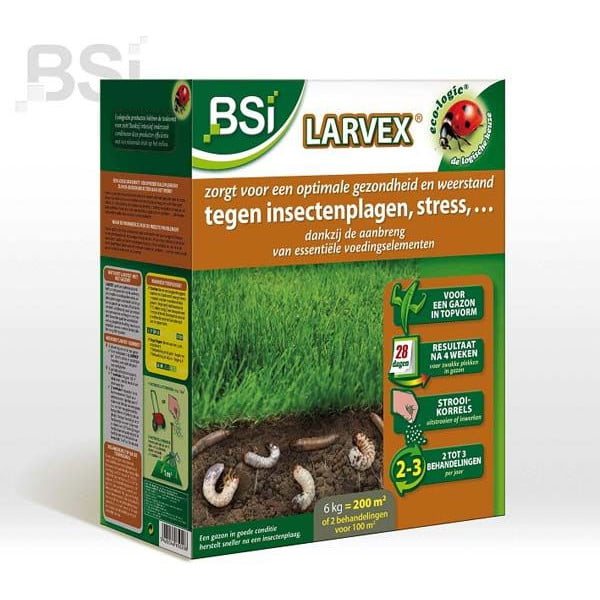 BSI Larvex 6kg. 200m2 tegen Emelten & Engerlingen