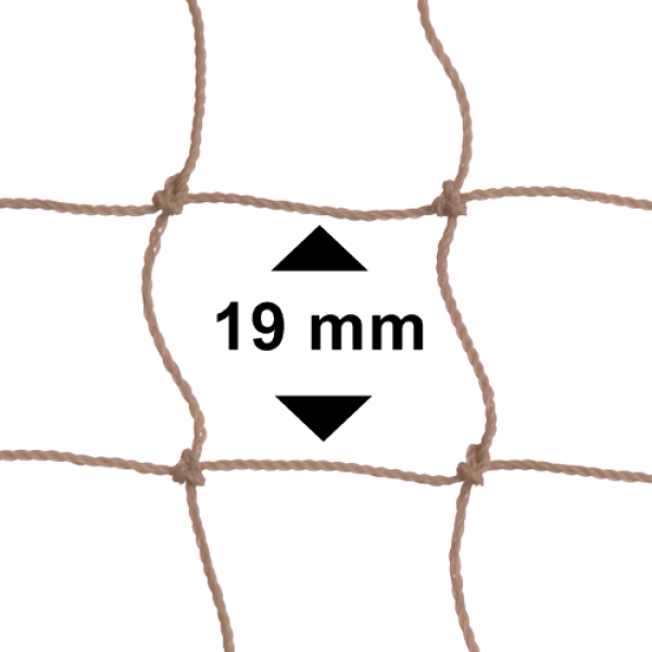 Vogelnet stone (beige) - 5x5 meter - maaswijdte 19mm
