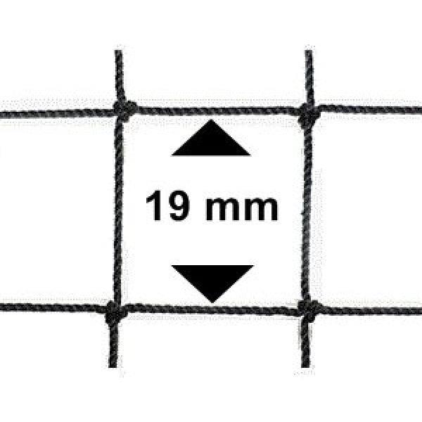 Vogelnet zwart - 10x10 meter - maaswijdte 19mm