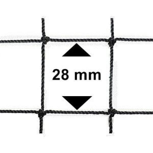 Vogelnet zwart - 10x10 meter - maaswijdte 28mm