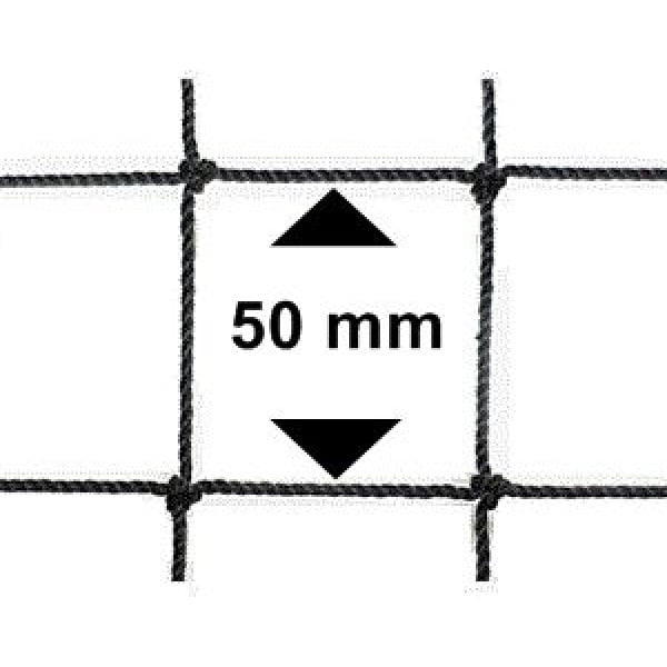 Vogelnet zwart - 10x5 meter - maaswijdte 50mm