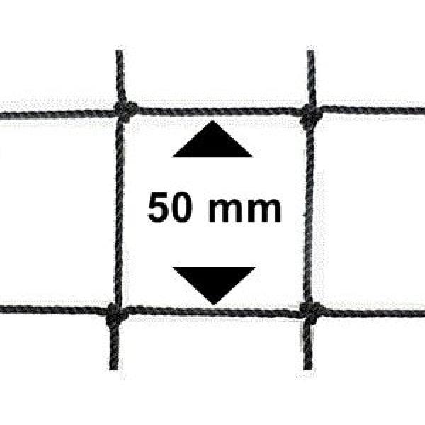 Vogelnet zwart - 10x10 meter - maaswijdte 50mm