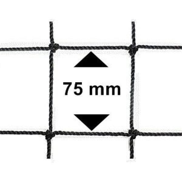 Vogelnet zwart - 5x2 meter - maaswijdte 75mm