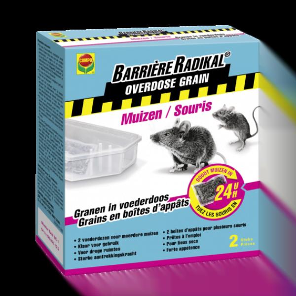Muizengif Compo Barrière Radikal Toxa Graan 2 x 10 gram + lokdoos